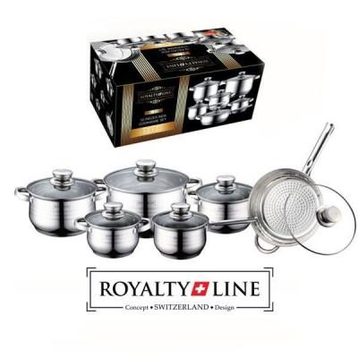 Royalty Line grydesæt i rustfrit stål (12 dele)